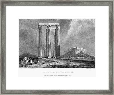 Athens: Olympian Zeus Framed Print