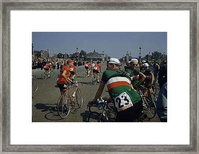 Athletes From Many Countries Await Framed Print by Justin Locke