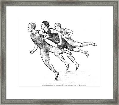 Athletics: Track, 1890 Framed Print by Granger