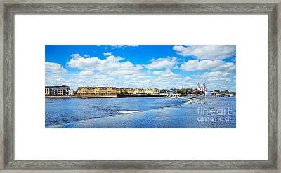 Athlone City And Shannon River Framed Print by Gabriela Insuratelu