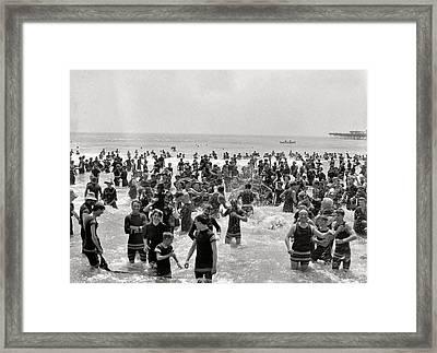 Atlanta Beach 1910 Framed Print by Steve K
