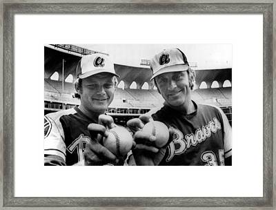 Atlanta Braves Pitchers Joe Niekro Framed Print
