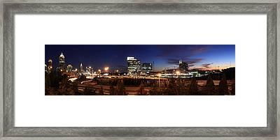 Atlanta Downtown Skyline Framed Print by Alberto Filho