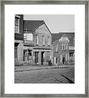 Atlanta, Georgia, Slave Auction House Framed Print by Everett