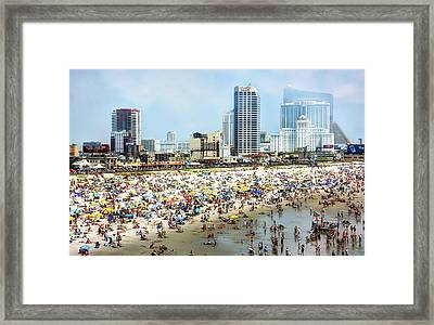 Atlantic City Beach Framed Print by John Loreaux