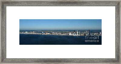 Atlantic City Skyline Panoramic Framed Print