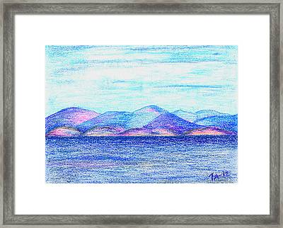 Atlantic Mountains 2 Framed Print by Taruna Rettinger