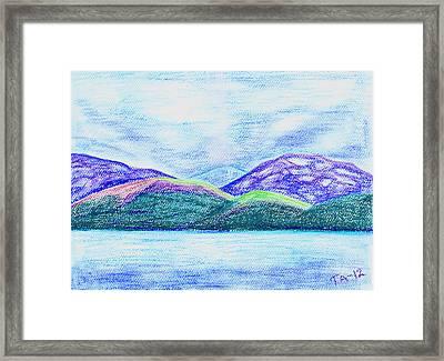 Atlantic Mountains Framed Print by Taruna Rettinger