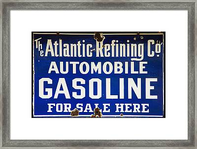 Atlantic Refining Co Sign Framed Print by Bill Cannon