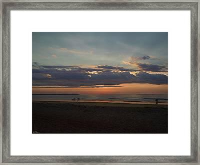 Atlantic Sunrise Framed Print by Nancy Griswold