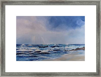 Atlantic Waves Framed Print by Margaret Denholm