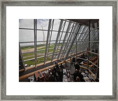 Atlantis Shuttle Liftoff, Viewed Framed Print by NASA/Science Source