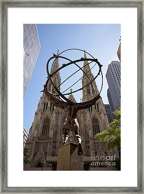 Atlas Nyc Framed Print by Ei Katsumata