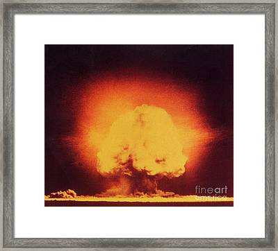 Atomic Bomb Explosion Framed Print by Science Source