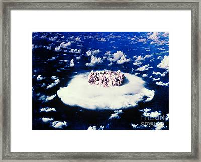Atomic Bomb Test Cloud Framed Print by Science Source