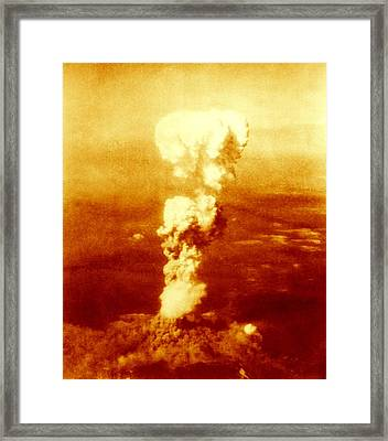 Atomic Burst Over Hiroshima, 1945 Framed Print by Us National Archives And Records Administration