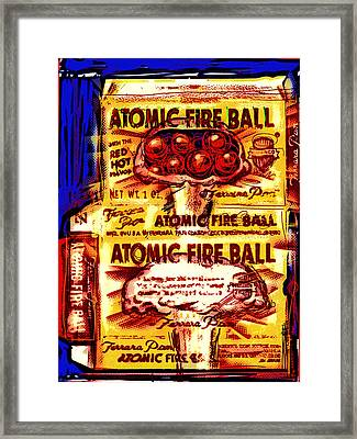 Atomic Fire Ball Framed Print by Russell Pierce