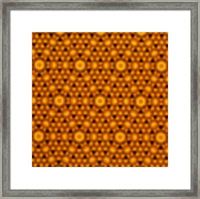 Atomic Surface Of A Silicon Crystal Framed Print by Northwestern University