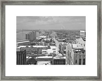 Atop The Guardian  Framed Print by Michael Peychich