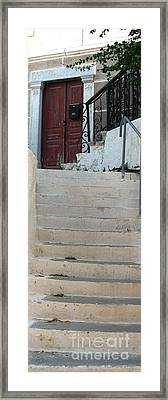 Atop The Stairs Framed Print by Therese Alcorn
