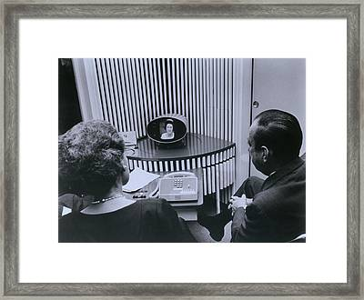 Att Inauguration Of The Picture Phone Framed Print by Everett
