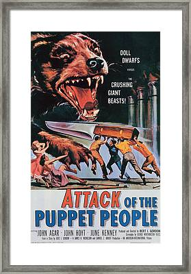 Attack Of The Puppet People, 1958 Framed Print