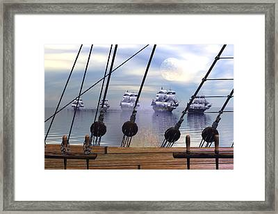 Attack Squadron Framed Print by Claude McCoy