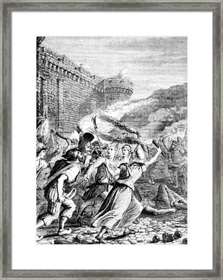 Attack Upon The Bastille Framed Print by Everett