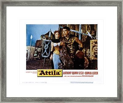 Attila, Aka Attila, Il Flagello Di Dio Framed Print by Everett