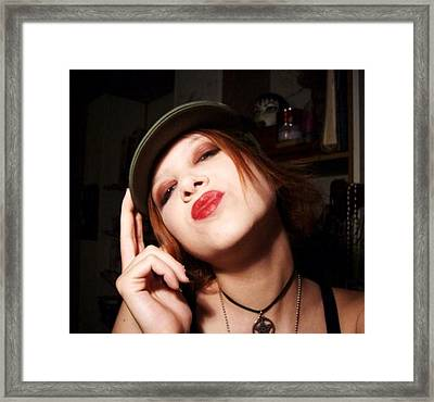 Attitude Framed Print by Juliana  Blessington