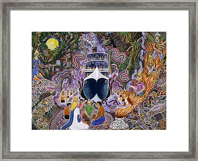 Atun Supay Lancha Framed Print by Pablo Amaringo