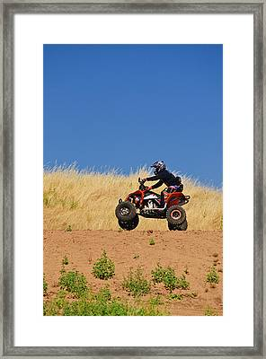 Framed Print featuring the photograph Atv Action by Sherri Meyer