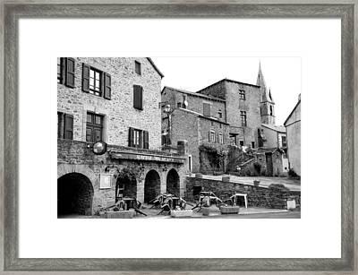 Auberge Des Arcades Framed Print