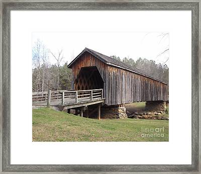Auchumpkee Creek Bridge Framed Print by Michelle H
