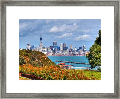 Auckland Framed Print by Lynette McNees