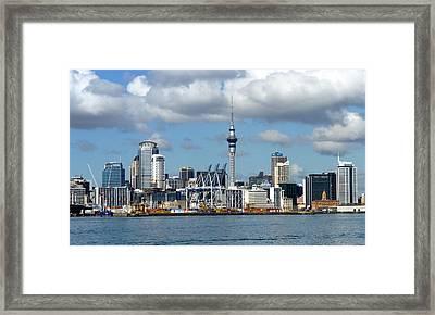 Auckland Skyline Framed Print by Carla Parris