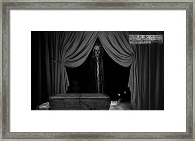 Audience Volunteers Wanted - Bw Framed Print by David Dehner