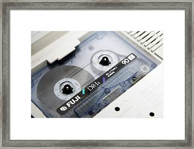 Audio Cassette Tape Framed Print
