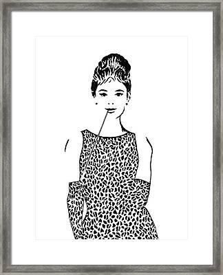 Audrey Hepburn Framed Print by Georgeta  Blanaru