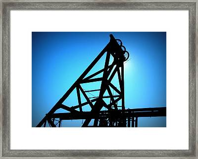 Framed Print featuring the photograph Audrey Mine Shaft Headframe In Jerome by Cindy Wright
