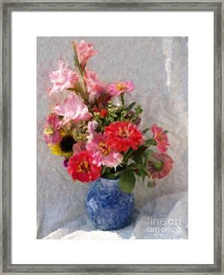August Bouquet Framed Print
