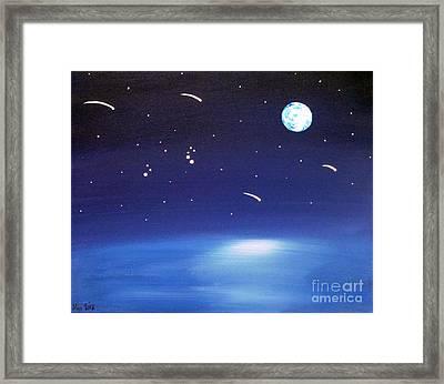 August Celestial Trinity Framed Print by Alys Caviness-Gober