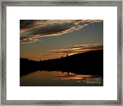 August Lake Sunset Framed Print by Donna Cavanaugh