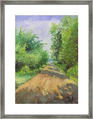 Framed Print featuring the painting August Lane by Joe Winkler