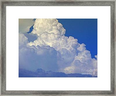 August Monsoon Clouds Framed Print by Methune Hively