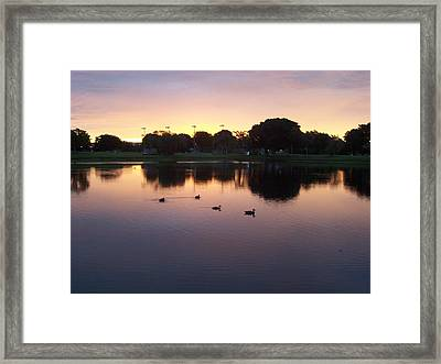 Framed Print featuring the photograph August Sunset by Sheila Silverstein