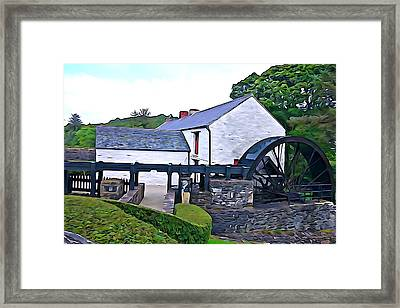 Framed Print featuring the photograph Auld Mill  by Charlie and Norma Brock