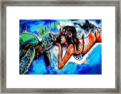 Aumakua Framed Print by Kimberly Dawn Clayton