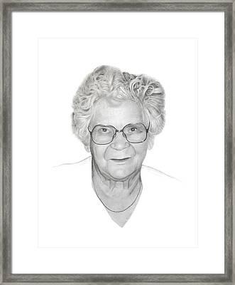 Aunt Flora Framed Print by Conrad Mieschke