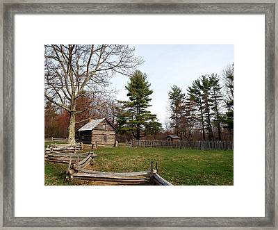Auntie Puckett's Cabin Framed Print by Jim Goldseth